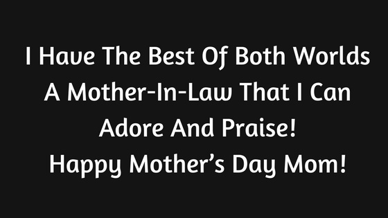 Happy Mother's Day Wishes from Son & Daughter In Law 2020 SMS,Quotes